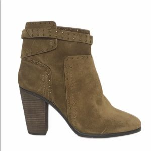 NEW Vince Camuto Brown Suede Studded Booties 8M